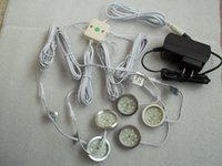 Wholesale NEW DC v W LED Puck Cabinet Light LED spotlight connector line v a power