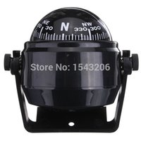 Wholesale Waterproof Pivoting Sea Marine Car Boat Truck Black Spherical for Compass Direction Navigation Hanging Ring Type small order no tracking