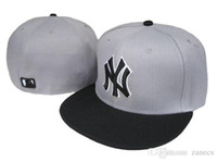 al por mayor diseños de bordado-Diseño del envío libre Patrón MLB Yankees colección clásica gorra de béisbol Frente bordado en el campo sombrero cabido