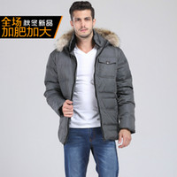 Wholesale Fall new arrival Fashion male fur collar down coat thick obese casual plus size XL XL XL XL XL XL XL XL XL XL XL