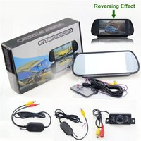 Wholesale Wireless Car Reversing Rear View Backup Camera Night Vision quot Digital LCD Monitor SCYF0456