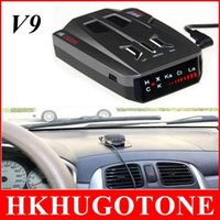 Wholesale 2015 Car V9 Radar Detectors Russia English Brand LED Display X K NK Ku Ka Laser Anti Radar Detector Best Quality