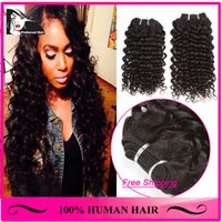 Cheap Best Malaysian Human Hair Weaves Hair Natural Color Can Be Dyed and Bleached Double Strong Deep Curly Hair Extensions MDC2