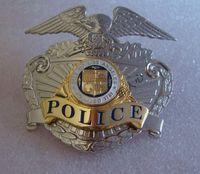Wholesale The metal badge badges of the US Losangeles LAPD copper CAP BADGE INSIGNIA