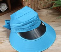 Wholesale 2015 New Fashion Uv Protection Visor Ladies The Sun Hat Outdoor Travel Cycling Against The Hat