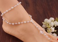 balls dress sandal - one pair beach wedding barefoot sandals bridal foot jewelry slave anklets chain elastic one size for all dress up your feet