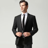 ab business - Wedding Suits for Men Double Button Black Wedding Suit Business Slim Suit and Pants for Men Top Selling AB Version M XL