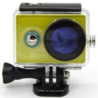 Wholesale 2015 New Xiaomi Yi Action Camera Waterproof Case Mi Yi M Diving Sports Camera Waterproof Box Yi Action Camera Accessories
