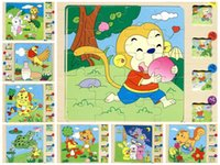 Wholesale Hot early childhood educational cartoon fairy tale storytelling multilayer wooden jigsaw puzzle toy trade