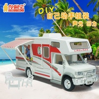 diecast - brand removable RV hands DIY toy car model warrior alloy toy vehicle touring car diecast Recreational Vehicle