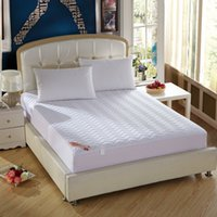 al por mayor colchones de colchón-Al por mayor-Nueva llegada venta caliente cubierta protectora colchón de la cama blanca con colchón relleno / almohadilla topper # 10