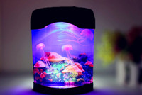 batteries led aquarium - Home Office Decorations USB Battery LED Electric Multi Colored Swimming Jellyfish Mood Lamp Aquarium Tank
