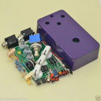 Wholesale Diy Fuzz Full Kit Drilled Case Pots Knobs Footswitch Stompbox Pedal purple