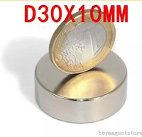 Wholesale 2pcs Super Powerful Strong Bulk Small Round NdFeB Neodymium Disc Magnets Dia mm x mm N35 Rare Earth NdFeB Magnet