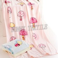 Wholesale Printed Mushroom Bath Towel Colors Choose Good Quality Cartoon Hair Drying Towel x140cm G