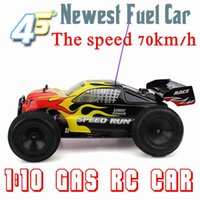 Wholesale Free Shiping Gas Powered Remote Control RC Car RC Off road Vehicle RC Petrol Fuel Truck cxp speed up to km h High Speed