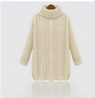 beige cardigan sweater for women - Hot Fashion warm winter pullover women sweater women Vintage Knitwear Long sleeve o neck wool knitted sweaters cardigan for women