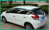 Wholesale High quality Stronger ABS material with color paint car rear wing Spoiler empennage for Toyota Yaris
