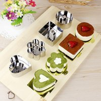 baked cheeses - FDA Stainless steel mousse ring style cookies mould Cheese cake mould High quality baking tool