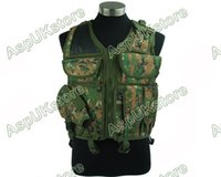 airsoft holster vest - Fall Airsoft Tactical Combat Hunting Vest w Holster Digi Woodland