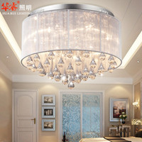 Wholesale Lustre Round Crystal Chandeliers Diameter cm Surface Mount Ceiling Lamp E14 Led Glass Chandelier Hang Lights Living Room Bedroom v V