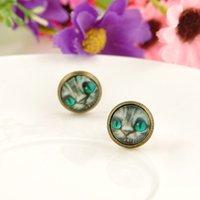 alice cat earrings - Hot Sale Trendy Design Alice Cat Women s Stud Earring Vintage Time Gem Stone Earrings jewelry