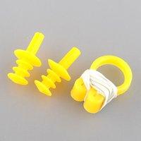 Wholesale 2x Soft Water Sport Swimming Swim Nose Clip Earplug Ear Plug Set Colors Multicolor Protector Tool Brand New