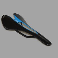 Wholesale New Arriving SkY Team Bicycle Saddle Black And Blue Color With Carbon Fibre Utralight Bike Important Parts