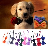 Wholesale 10 set New Lovely Cute Bow Tie For Dog Cat Pet Necktie Neck Collar Dog hv5n