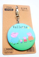 peppa pig - Peppa pig Makeup Pocket Mirror Portable Mirror Makeup Tool pendant Birthday Gift cartoon animation movie key chain ring