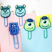 Wholesale 30 fashion monsters university paper clip book mark office clip in mm long styles