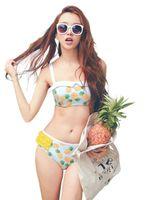 Wholesale 2015 Summer Style Woman Pineapple Print Bikini Set Cute M XL Bikinis Swimwear Swimsuit Beach Favor
