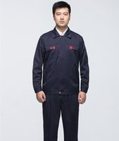 Wholesale Autumn and winter long sleeve set male work wear tooling uniform protective clothing work clothes size black