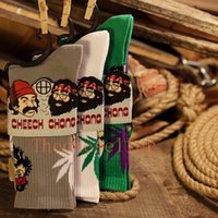Wholesale MOQ pairs wutang socks and cheech chong socks cotton socks Street wear Fashion Stockings Maple Leaf socks