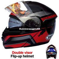 shoei helmets - Newest Shoei Motorcycle Helmet Modular Double Lens Capacete Casco Protective Gear