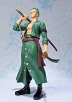 action wells - New Well Known Anime One Piece Roronoa Zoro PVC Action Figure Toy best quality