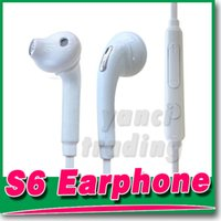 headset microphone - S6 S6 EDGE earbuds HEADSET WHITE integrated microphone Stereo Earphones with mic volume control For Galaxy S4 S5 S6 Note with box
