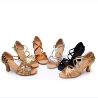 Wholesale Professional Satin Women Ballroom Latin Dance shoes High Quality Lady Tango Salsa Jazz Dance Shoes cm cm Heeled wdq073