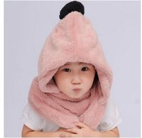 Wholesale South Korean parents baby with velvet private in the fall and winter warm scarf hat glove three children children suit