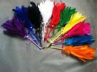 Gros Belle-cadeau des stylos plume pour la Journée Multi Color de mariage Valentine stylo bleu blanc rose plume noire de bille libre