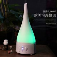 Wholesale 2015 NEW Color changing Ultrasonic Air Humidifier and Aroma Diffuser Lamp Air purifier Air ioniser