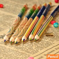 Wholesale 72 Color pencil Rainbow colored pencils for drawing kids art Stationery Office material escoloar school supplies