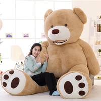 Wholesale hot sale Huge Giant Teddy Bear quot Feet cm High Quality Plush Toys Birthday Valentine s Day Girlfriend Gifts FREE EMS