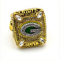 El anillo de campeonato Packer Solild Moda del rodio del anillo 2010 de Green Bay