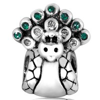 ale jewelry - Peacock Charm ALE Silver European Charms Crystal Bead Fit Snake Chain Bracelets Fashion DIY Jewelry