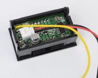 Wholesale V wire Mini Red LED DC V Digital Volt Voltage Pane Meter Voltmeter