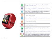 answers set - u8 smartwatch bluetooth smart watch MTK6260 Mhz chips five set alarm music play support popular watch