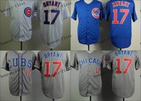 Wholesale Chicago Cubs Kris Bryant Cheap Wholesales Baseball Jersey Embroidery Name and Logo EME DHL
