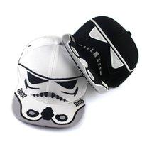 baseball training ball - Free DHL Star Wars Snapbacks Hats Darth Vader Stormtrooper Caps Train Girls Boys Hip Hop Hat women Baseball Hats Men Sport Visor Hats ZJ H11