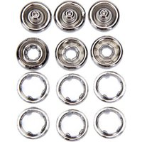 Wholesale FS Hot Sets Inch Open Ring No Sew Snaps Fasteners Silver order lt no track